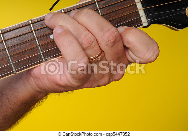 G7 guitar chord. Finger position for a g7 guitar chord.