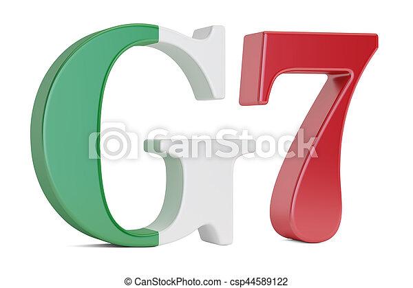 G7 in Italy concept, 3D rendering - csp44589122