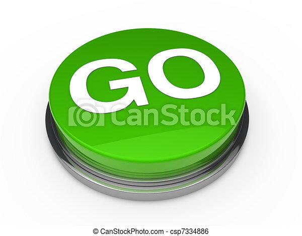 ga knoop, groene, 3d - csp7334886