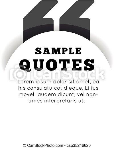 gabarit, arrière-plan., vide, citation, blanc - csp35246620