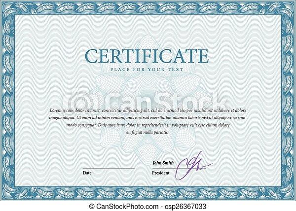 gabarit, certificat, diplômes - csp26367033