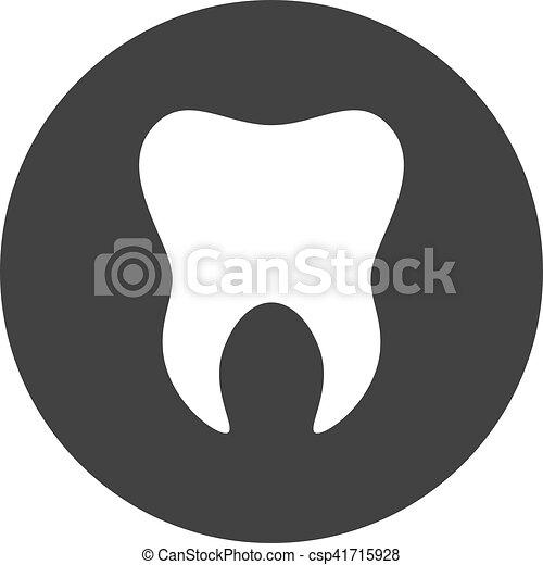 gabarit, dentaire, dent, tooth., logo, icon., signe, symbole - csp41715928