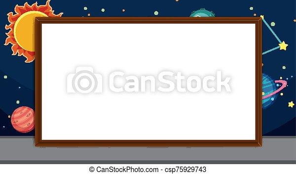 gabarit, espace, frontière, étoiles, fond - csp75929743