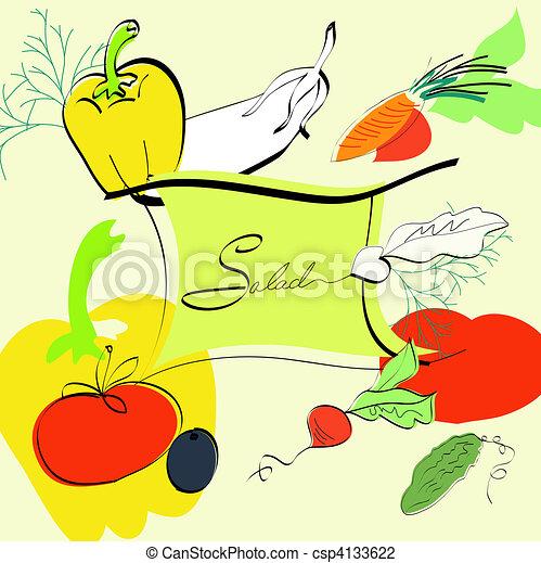 gabarit menu, salade - csp4133622