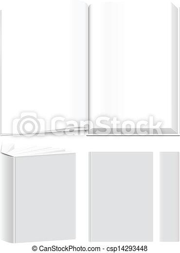 gabarits, livre, spreads., propre, voile de surface, purposes., couvertures, ton, presentational, vecteur, ou - csp14293448