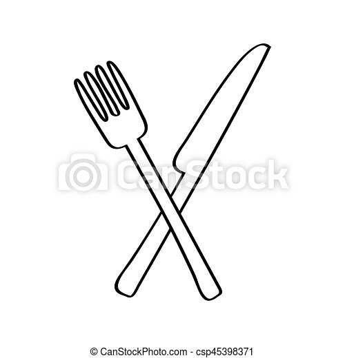 Messer und gabel clipart  Vektoren Illustration von gabel, freigestellt, besteck, ikone ...