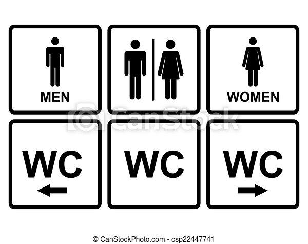 Gabinetto wc proiettato icona entrambi uomini for Bagno uomini e donne