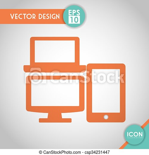 Gadget icon design. Technology concept with gadget icon ...