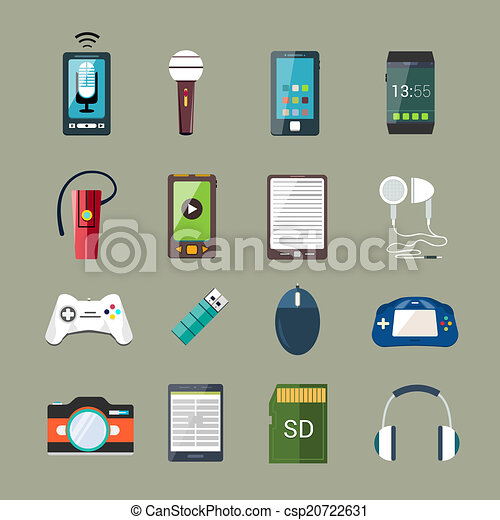 Gadget icons set - csp20722631