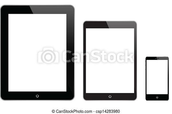 gadgets, noir, technologie - csp14283980