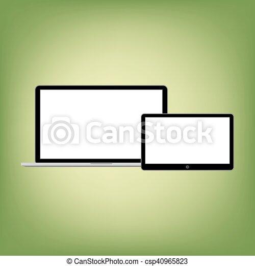 gadgets, style, résumé, moderne, screen., contenu, gabarit, vide, n'importe quel - csp40965823
