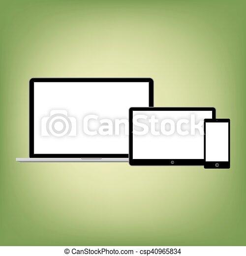 gadgets, style, résumé, moderne, screen., contenu, gabarit, vide, n'importe quel - csp40965834