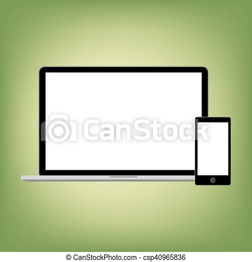 gadgets, style, résumé, moderne, screen., contenu, gabarit, vide, n'importe quel - csp40965836