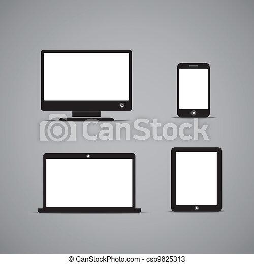 gadgets, style, résumé, moderne, screen., contenu, gabarit, vide, n'importe quel - csp9825313
