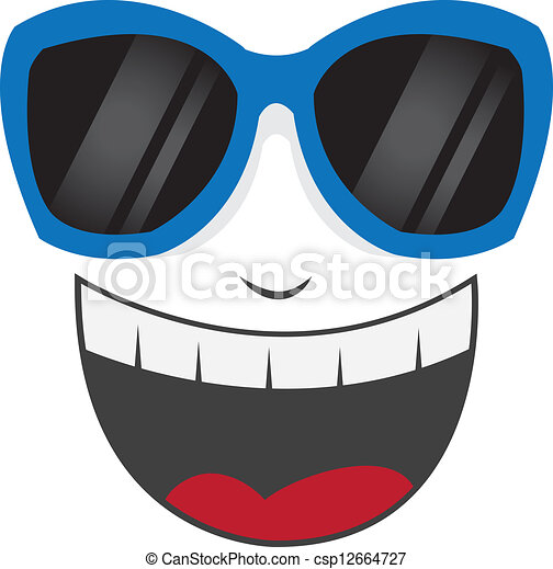 Los anteojos sonrientes - csp12664727