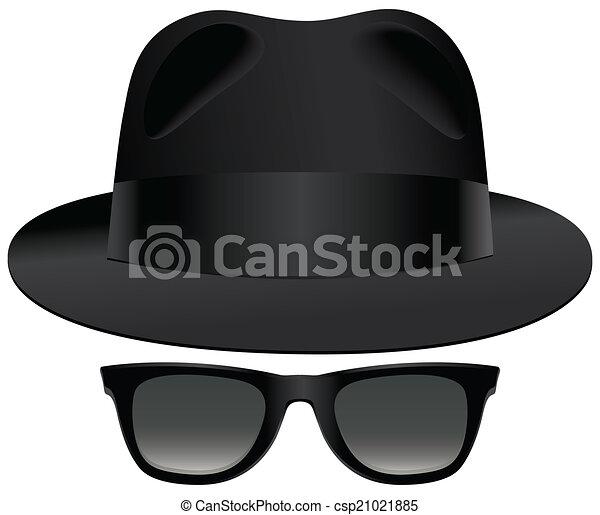gafas de sol, fedora - csp21021885