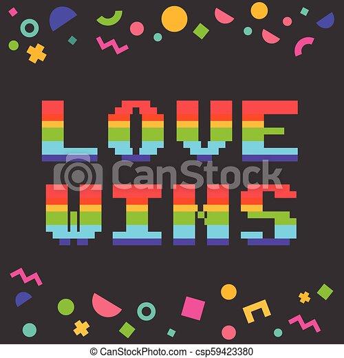 Gagne Vecteur Amour Pixel