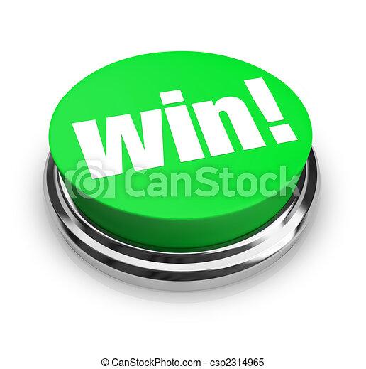 gagner, bouton, -, vert - csp2314965
