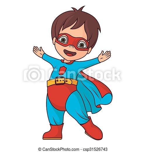gai, héros super, garçon - csp31526743