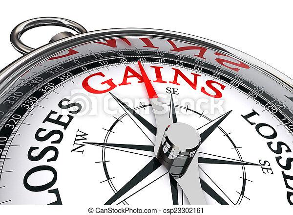 gains, mot, conceptuel, compas - csp23302161