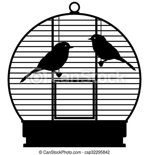gaiola pássaros cage abstratos ilustração contorno