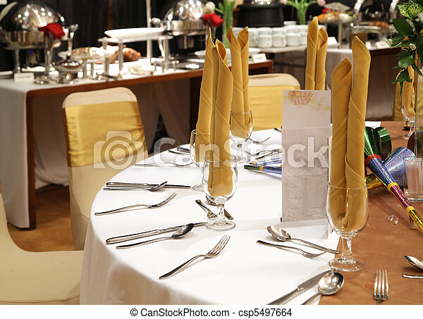 gala dinner table setup - csp5497664