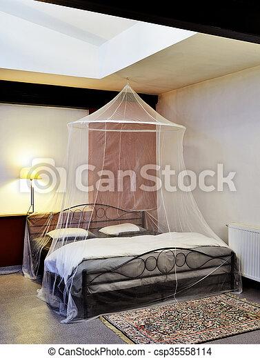 Galambdúc, szüret, cosi, ágy, háló, felújít, moszkitó stock ...