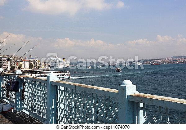 Galata Bridge Istanbul - csp11074070