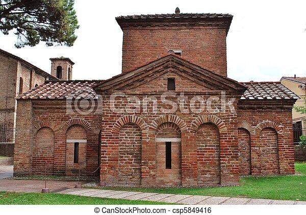Galla Placidia Mausoleum Exterior View Ravenna Italy
