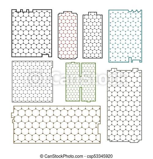 galler, graphene, bakgrund, bilda - csp53345920