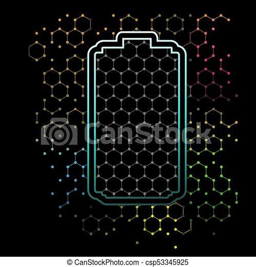 galler, graphene, bakgrund, bilda - csp53345925