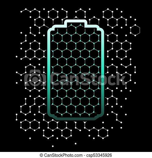 galler, graphene, bakgrund, bilda - csp53345926