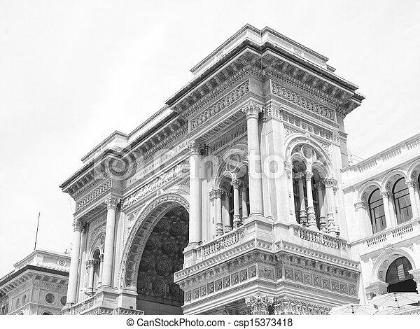 Galleria Vittorio Emanuele II, Milan - csp15373418