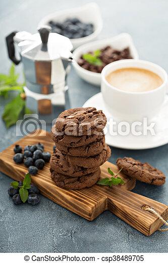 galletas, café, chocolate - csp38489705