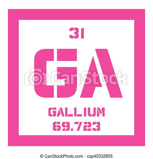 Gallium Chemical Element Used In Electronics Colored Icon With