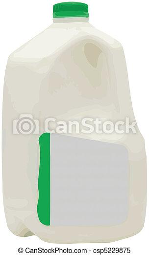 Gallon of Milk Vector Illustration - csp5229875