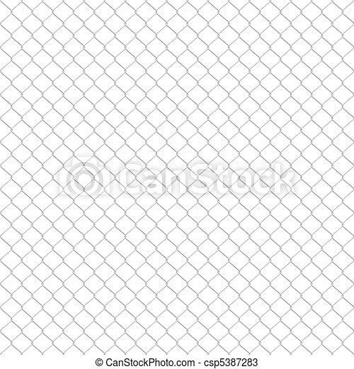 Galvanized wire fence - csp5387283