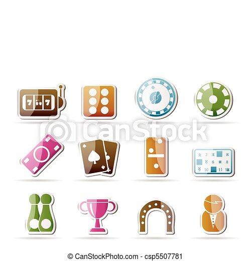 gambling and casino Icons - vector  - csp5507781