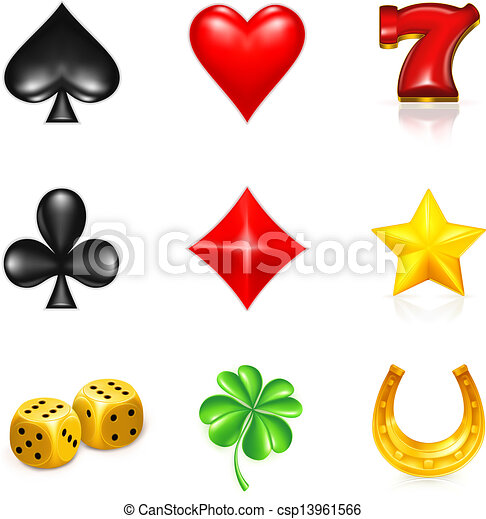 Gambling And Luck, icon set - csp13961566