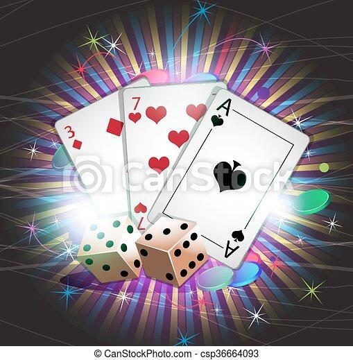 Gambling background - csp36664093