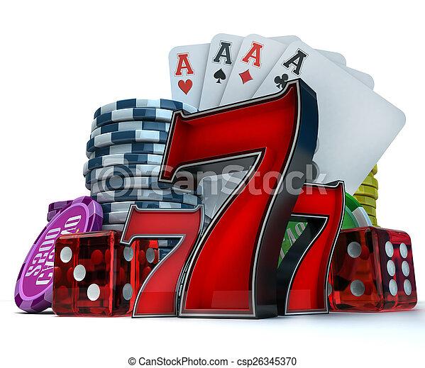 Gambling background - csp26345370