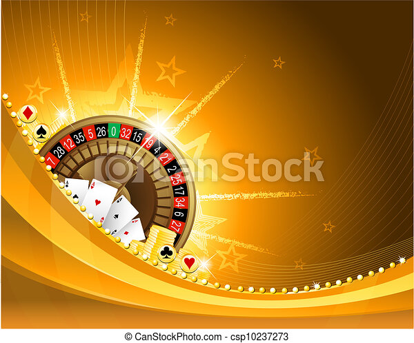 Gambling background with casino elements - csp10237273
