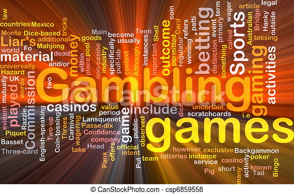 Gambling betting background concept glowing - csp6859558