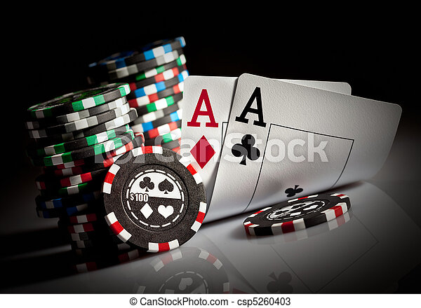 gambling chips and aces - csp5260403