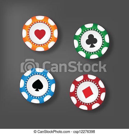 Gambling chips - csp12276398