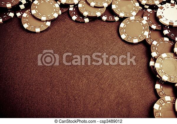 Gambling chips - grunge styled - csp3489012