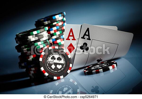 gambling chips - csp5264971