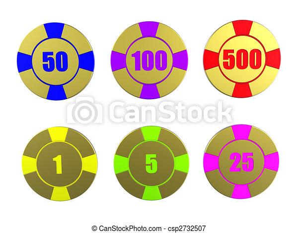 Gambling chips - csp2732507