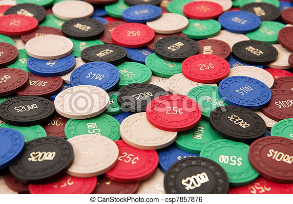 Gambling chips - csp7857876