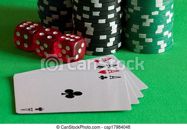 gambling chips - csp17984048